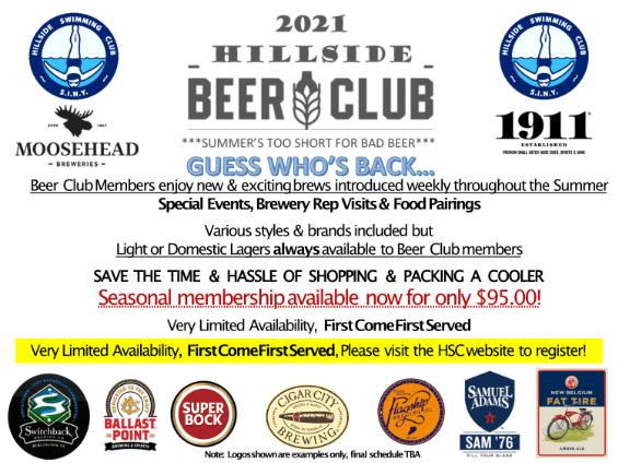 Hillside Beer Club 2021